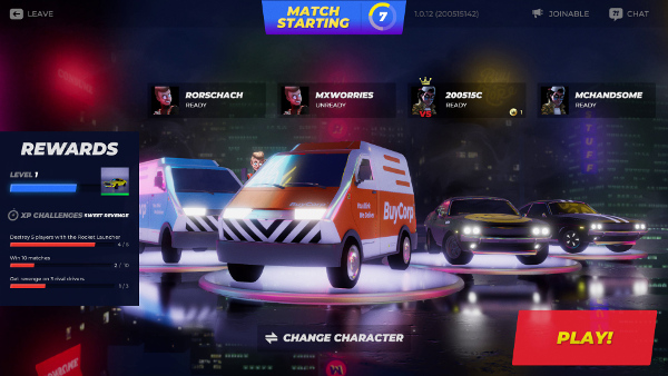 Promotional image showing the multiplayer lobby.