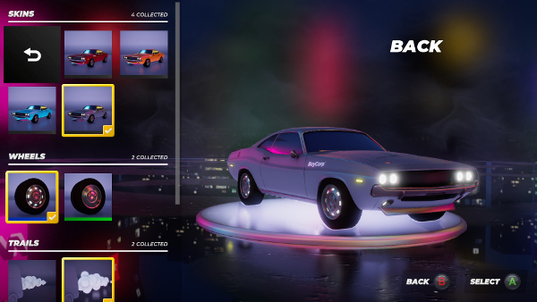 Vehicle customisation options can be unlocked through play.